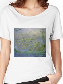 Claude Monet - Waterlilies , Impressionism Women's Relaxed Fit T-Shirt
