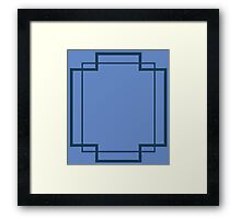 Regency Inlay in Lapis and Midnight Blue Framed Print