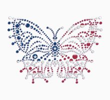 American Patriotic Dots Butterfly Flag  Baby Tee