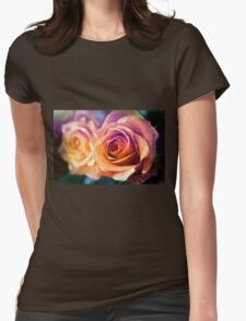 Orange roses close up Womens Fitted T-Shirt
