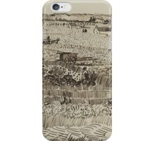 Vincent Van Gogh  Post- Impressionism Painting, The Harvest, for Émile Bernard, 1888 iPhone Case/Skin
