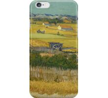 Vincent Van Gogh Post - Impressionism Oil Painting , The harvest, June 1888 - 1888 iPhone Case/Skin