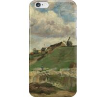 Vincent Van Gogh Post- Impressionism Oil Painting , The hill of Montmartre with stone quarry, June 1886 - July 1886 iPhone Case/Skin