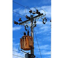 Transformer on a Pole Photographic Print