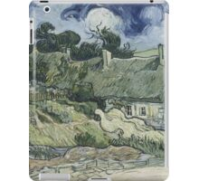 Vincent Van Gogh  Post- Impressionism Oil Painting , Thatched Cottages at Cordeville, 1890 iPad Case/Skin