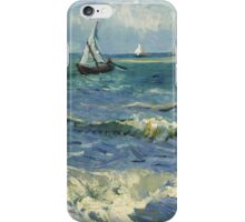 Vincent Van Gogh - Post- Impressionism Oil Painting , Seascape near Les Saintes-Maries-de-la-Mer, June 1888 - 1888 iPhone Case/Skin