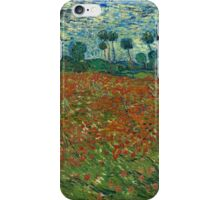 Vincent Van Gogh - Poppy field, June 1890  Famous Paintings. Impressionism. Van Gogh iPhone Case/Skin