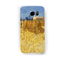 Vincent Van Gogh - Corn Harvest in Provence,  Famous Painting. Impressionism. Van Gogh Samsung Galaxy Case/Skin