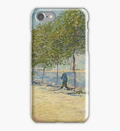 Vincent Van Gogh - By the Seine,  Famous Painting. Impressionism. Van Gogh iPhone Case/Skin