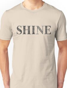 Serif Stamp Type - Shine Unisex T-Shirt