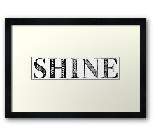 Serif Stamp Type - Shine Framed Print