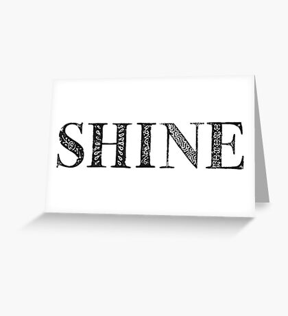 Serif Stamp Type - Shine Greeting Card