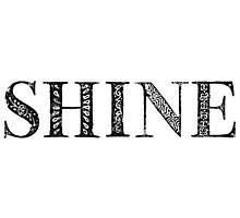 Serif Stamp Type - Shine Photographic Print