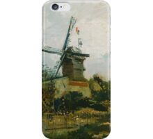 Vincent Van Gogh - Windmills on Montmartre,  Famous Painting. Impressionism. Van Gogh iPhone Case/Skin