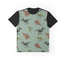 Fancy Dinosaurs - Blue Graphic T-Shirt