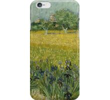 Vincent Van Gogh -Impressionism. Field with Flowers near Arles, 1888 Vincent Van Gogh iPhone Case/Skin