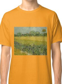 Vincent Van Gogh -Impressionism. Field with Flowers near Arles, 1888 Vincent Van Gogh Classic T-Shirt
