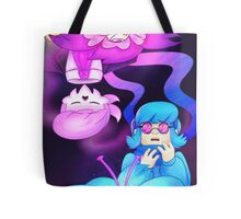 Rose and Orchid, Pink and Blue Tote Bag