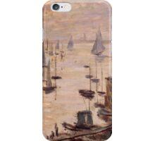 Claude Monet - Le Bassin d'Argenteuil vu depuis le pont routier (1874) French  Impressionism. Famous painting iPhone Case/Skin