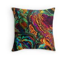 Colorful Abstract enamel colors design Throw Pillow