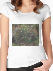 Claude Monet - Ladies in Flowers ,Impressionism Women's Fitted Scoop T-Shirt