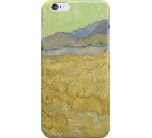 Vincent Van Gogh - Wheatfield with a reaper, Impressionism Van Gogh iPhone Case/Skin