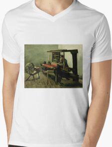 Vincent Van Gogh - Weaver, 1884 Mens V-Neck T-Shirt