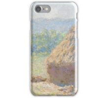 Claude Monet - Haystacks (1885) iPhone Case/Skin