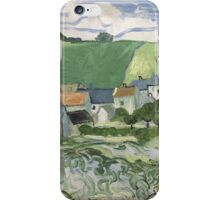 Vincent Van Gogh - View of Auvers, May 1890 - June 1890 iPhone Case/Skin