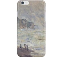 Claude Monet - Heavy Sea at Pourville (1897) iPhone Case/Skin