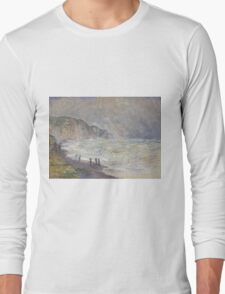 Claude Monet - Heavy Sea at Pourville (1897) Long Sleeve T-Shirt