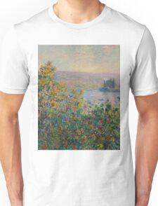Claude Monet - Flower Beds at Vetheuil (1881) Unisex T-Shirt