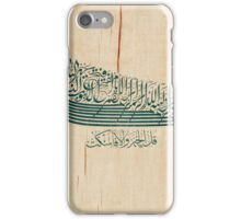 A calligraphic saying on silk, signed by Mehmed Şefik, Turkey, Ottoman iPhone Case/Skin