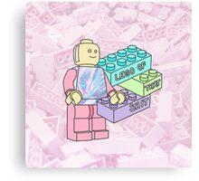Lego grunge 90s 80s tumblr pastel toy 80s 90s youtube typography Canvas Print