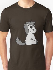foal sweet cute sitting comic cartoon pony horse pferdchen kawaii child girl baby T-Shirt