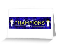 Leicester City 2015/16 Champions Greeting Card