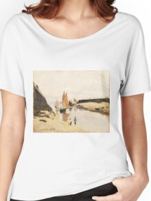 Claude Monet - Breakwater at Trouville.  Low Tide  Women's Relaxed Fit T-Shirt