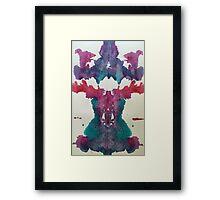 Ocean Inkblot Framed Print