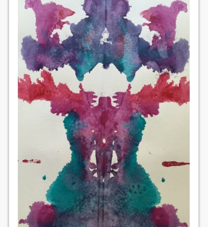 Ocean Inkblot Sticker