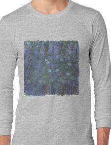 Claude Monet - Blue Water Lilies (1916 - 1919) Long Sleeve T-Shirt