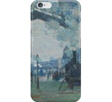 Claude Monet - Arrival of the Normandy Train  Gare Saint-Lazare  iPhone Case/Skin