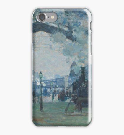 Claude Monet - Arrival of the Normandy Train  Gare Saint-Lazare  iPhone Case/Skin