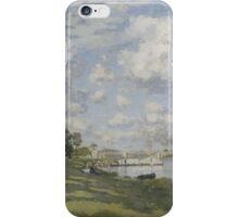 Claude Monet - Bassin d'Argenteuil (circa 1872) iPhone Case/Skin