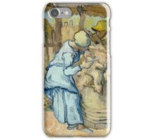 Vincent Van Gogh - The sheep-shearer, after Millet, September 1889 - 1889 iPhone Case/Skin