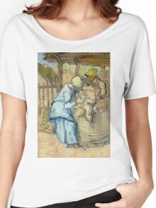Vincent Van Gogh - The sheep-shearer, after Millet, September 1889 - 1889 Women's Relaxed Fit T-Shirt
