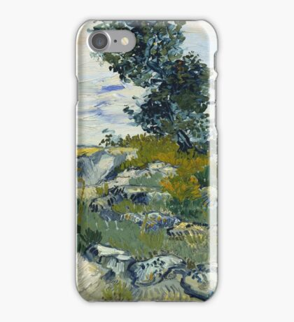 Vincent Van Gogh - The Rocks, 1888 iPhone Case/Skin