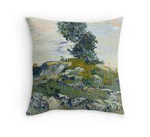Vincent Van Gogh - The Rocks, 1888 Throw Pillow