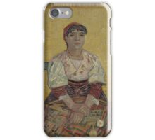 Vincent Van Gogh - The Italian Woman, 1887 iPhone Case/Skin