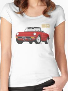 Alfa Romeo Series 2 Spider red Women's Fitted Scoop T-Shirt