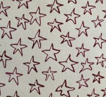 Magenta Stars Sticker
